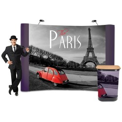 Stand parapluie 3x4 courbe