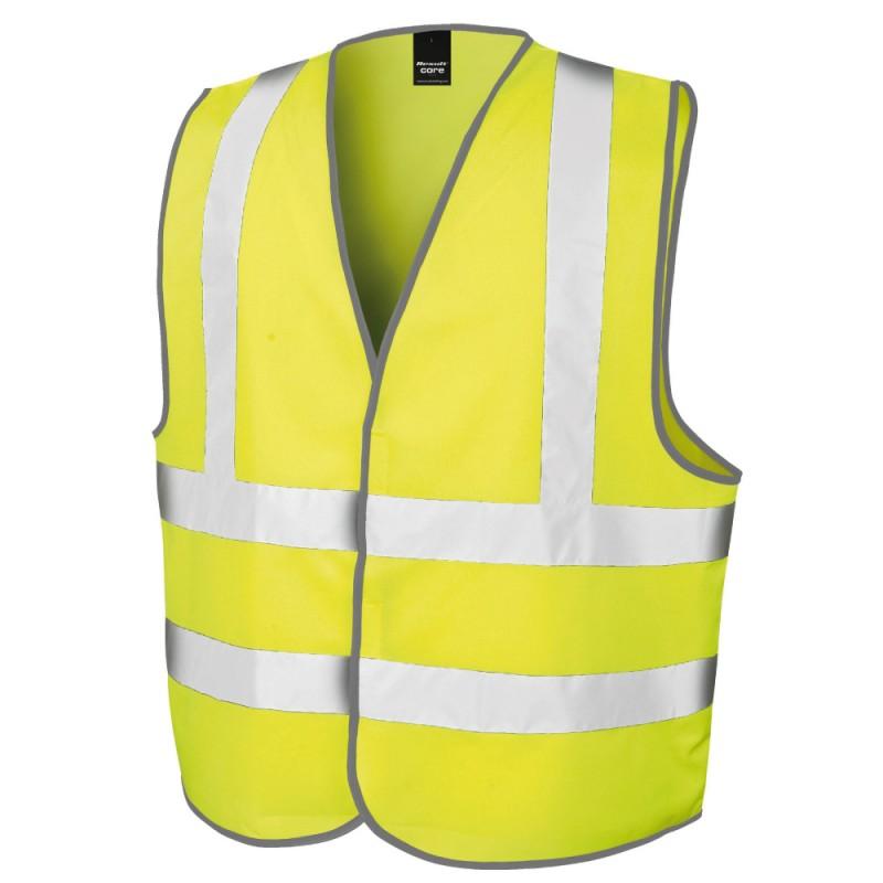 Gilet de securite jaune fluo personnalise